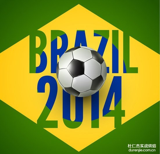 世界杯来了 教你足球蜂蜜蛋糕